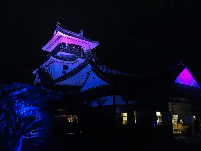 高知城光の祭 天守閣