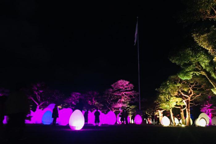 高知城光の祭 卵型ランタン①