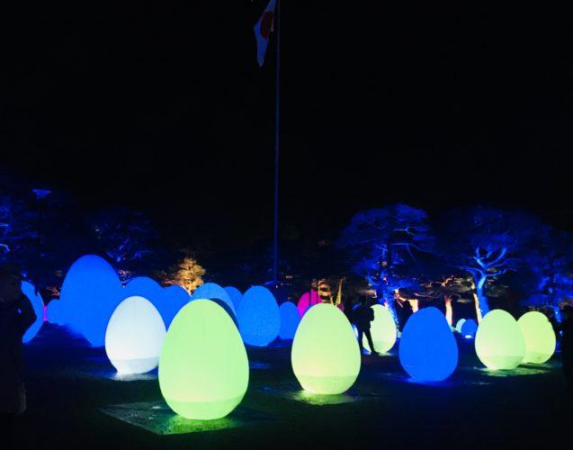 高知城光の祭 卵型ランタン②