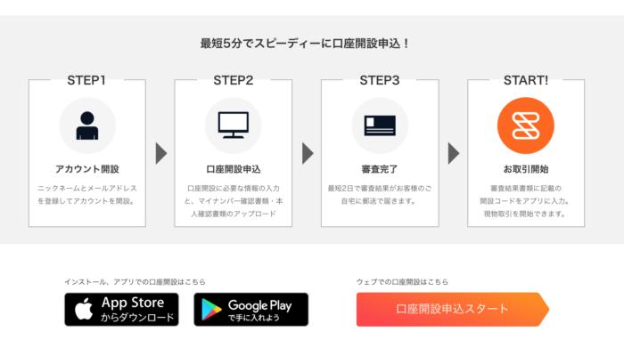 出典:STREAM公式サイト 口座開設手順