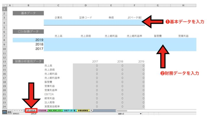 【IRIS】財務分析エクセルの使い方