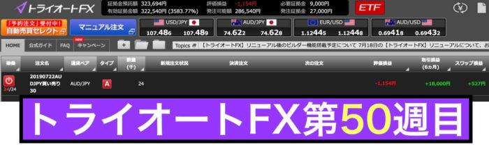 トライオートFXの運用実績(第50週)